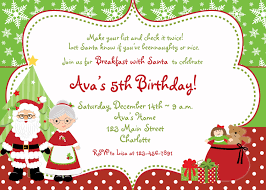 christmas brunch invitations christmas birthday party invitation breakfast with santa