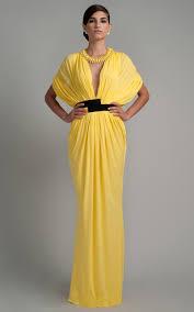 Draped Gown Lemon Jersey Draped Gown By Vionnet Moda Operandi