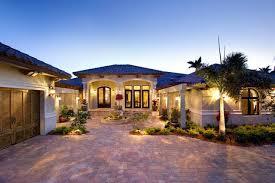 coastal contemporary florida mediterranean house plan 71501
