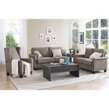 loveseat sofa better homes and gardens grayson loveseat with nailheads grey
