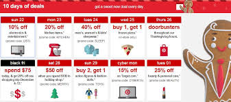 target 10 days of deals schedule kicks today cheaps