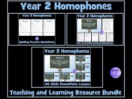 year 2 homophones near homophones resource bundle by krazikas