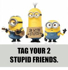 Stupid Friends Meme - m with stupid tag your 2 stupid friends friends meme on me me