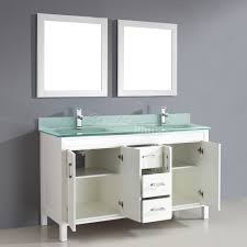 60 Inch White Vanity Studio Bathe Corniche 60 Inch Double Bathroom Vanity White Finish