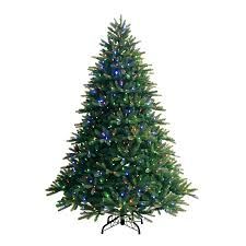 shop ge 7 5 ft pre lit fir artificial tree with color