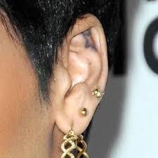 rihanna earrings rihanna s piercings jewelry style