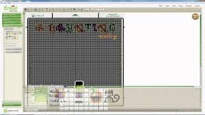Cricut Craft Room Software - a haunting we will go digital layout using cricut craft room