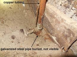 problems with galvanized steel water pipes