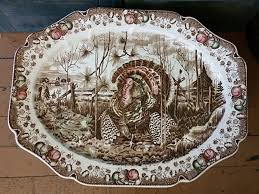 collecting turkey platters and plates