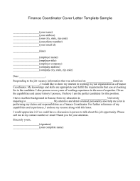 best solutions of cover letter for finance position sample on