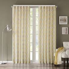 Yellow And Grey Curtain Panels Buy Yellow Panel Curtains From Bed Bath Beyond