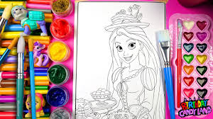 coloring disney princess rapunzel colouring pages for kids to