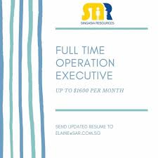 sle resume accounts assistant singapore mrt fare charges of pakistan operation executive wanted recruitment agency 1700 1800 per