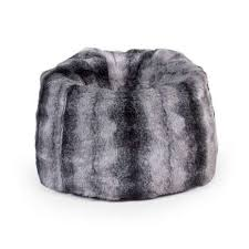grey faux fur bean bag dunelm