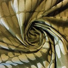 Modern Retro Upholstery Fabric Maharam Retro Modern Olive Green Diamond Jacquard Design Cotton