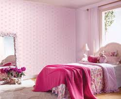 cute baby pink wallpaper for room ideas kids room