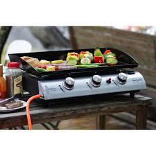 cuisiner à la plancha gaz brasero plancha gaz 3 brûleurs achat vente plancha brasero
