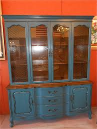 Black China Cabinet Hutch by This French Provincial China Cabinet Hutch Was Painted In U0027deep