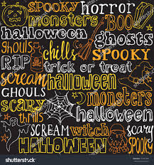 halloween graphic background halloween words icons background vector stock vector 112587479