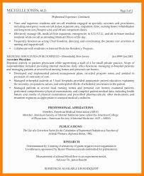 Medical Doctor Resume Example Physician Resume Format Eliolera Com