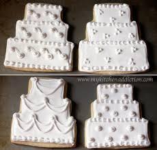 wedding cake cookies bridal shower cookies my kitchen addiction