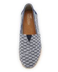 blue patterned shoes lyst toms alpagarta patterned flat shoes in blue for men