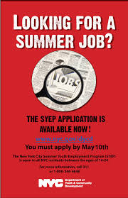 looking for a summer job