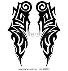 tribal tattoo art designs sketched simple stock vector 622472708