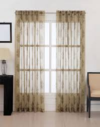 How To Hang Sheer Curtains With Drapes Kingsbury Damask Voile Sheer Curtain Panel Curtainworks Com