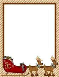 free christmas letter borders geographics holly ivy border