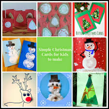 simple christmas cards for kids to make crafty kids at home