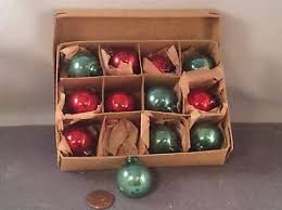 vintage occupied japan 12 glass ornaments in