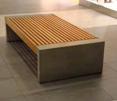 public bench contemporary in wood galvanized steel paxa by