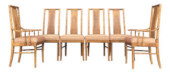 vintage set of 6 faux bamboo dining chairs chairish
