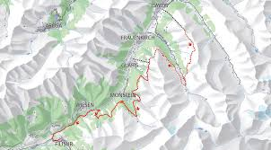 Alps Mountains Map Alps Epic Trail Davos Davos Klosters Tourism