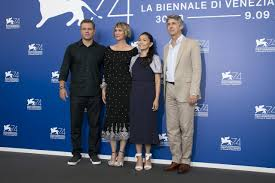 matt damon goes mini in venice opener