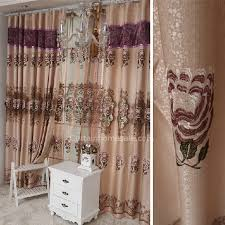 India Curtains Fabulous Embroidered Faux Silk Window Curtains India Of 2 Panels