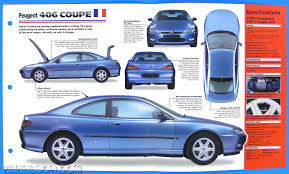 peugeot 406 coupe v6 peugeot 406 coupe france 1997 1998 spec sheet brochure poster imp