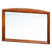 cherry wood bathroom mirror shop allen roth caladium 42 in x 30 in cherry rectangular framed