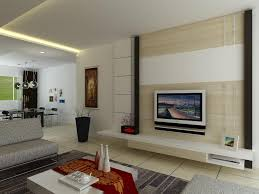 living room sleek feature wall with tv unit shelves