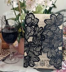 wedding card design paper black laser cut wedding invitations