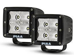 Cube Lights Piaa F 150 3 In Quad Series Led Cube Lights Flood Beam Pair