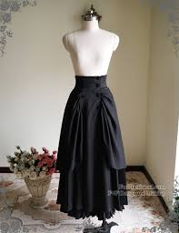 high waisted skirt steunk maxi skirt high waisted skirt bustle skirt
