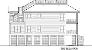 rooftop deck house plans porches cottage piling foundation roof deck 2900 sf southern