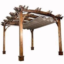 5 Ft Patio Swing With Cedar Pergola Create by Pergolas Sheds Garages U0026 Outdoor Storage The Home Depot