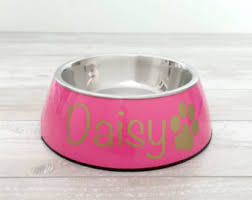 personalized bowl personalized dog bowl etsy