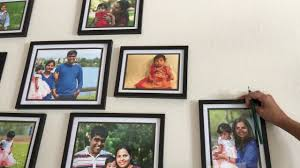 how to create a gallery wall using dollar store photo frames