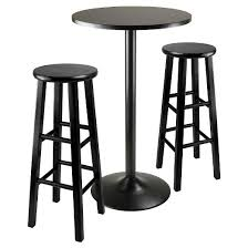 Bar Stool Table Sets 3 Piece Obsidian Bar Height Pub Table Set With Bar Stools Wood