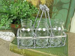 Shabby Chic Wire Baskets by Shabby Cottage Chic Wire Basket With Bottles Home Decor Shabby
