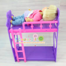 Bunk Bed For Dolls Toys For Baby Play House Toys Platic Bunk Bed For Mini